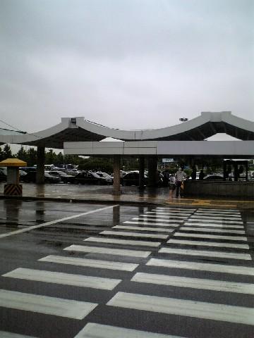 雨の金浦空港
