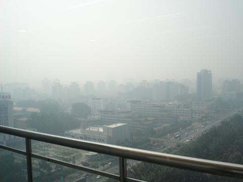 北京のもや2